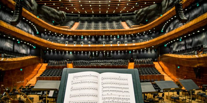 Concert hall from the conductor's view